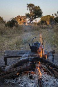 Feuerstelle vor dem skybed